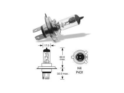 Automobilová žárovka ELTA  H4 12V 55W P43t