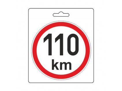 COMPASS Samolepka omezená rychlost 110km/h (110 mm)